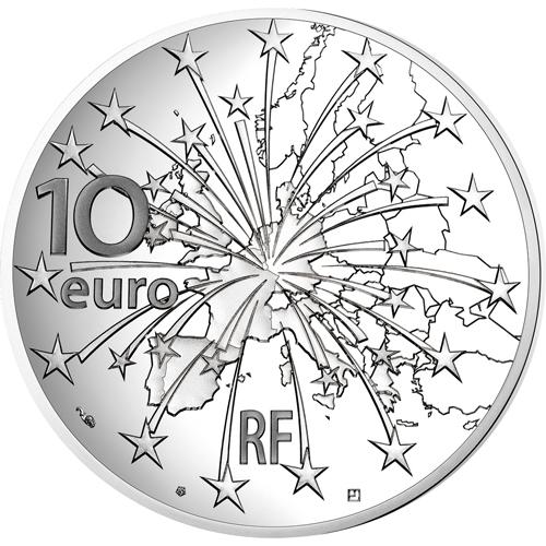 フランス 2018年 マーストリヒト条約発効25周年 10ユーロ銀貨 プルーフ ...